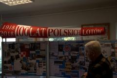 Wystawa ukazująca historię 100-leci lotnictwa polskiego