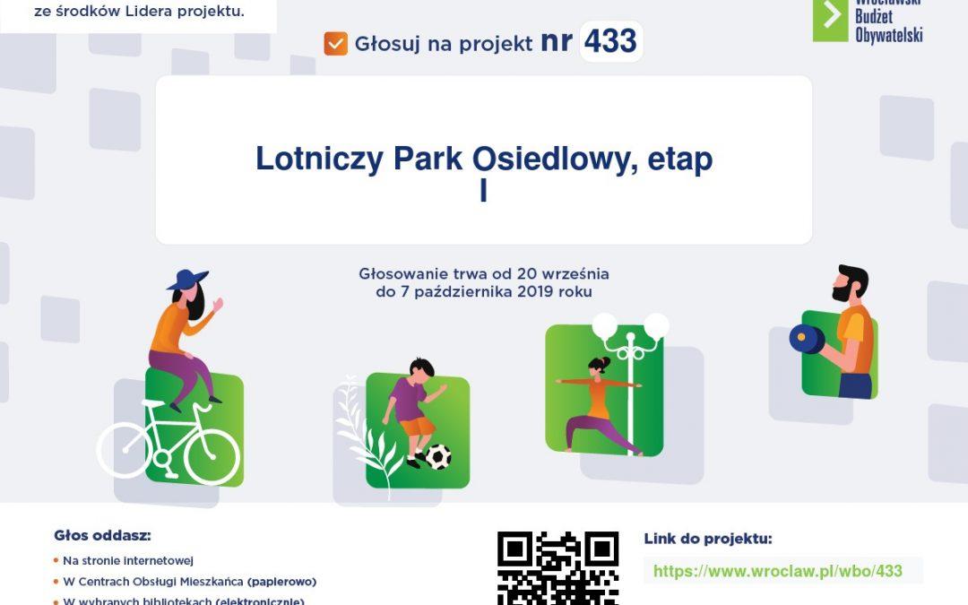 Projekt WBO nr 433 – Lotniczy Park Osiedlowy